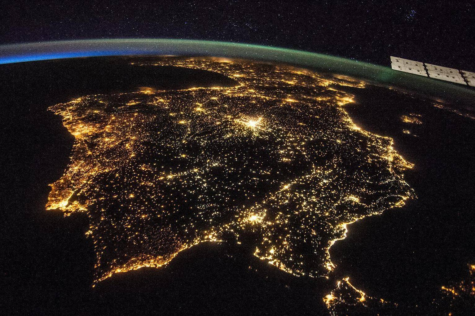 What Spain Looks Like From Space At Night