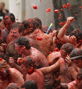 La Tomatina festival held Buñol, Valencia on the last Wednesday of August.