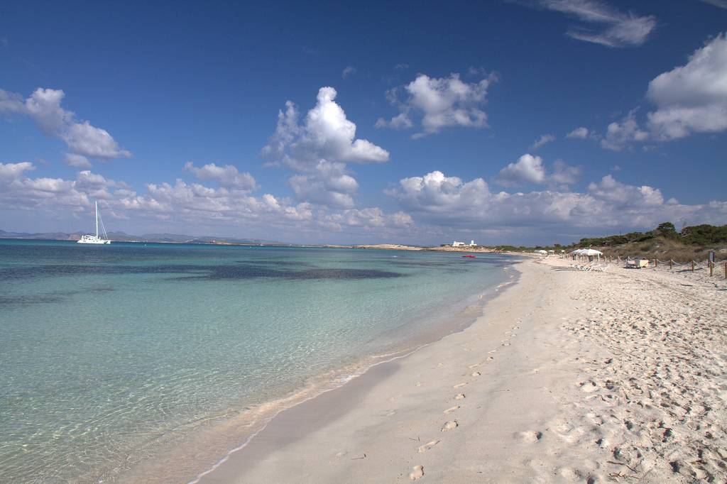 A beach in Formentera, Balearic Islands