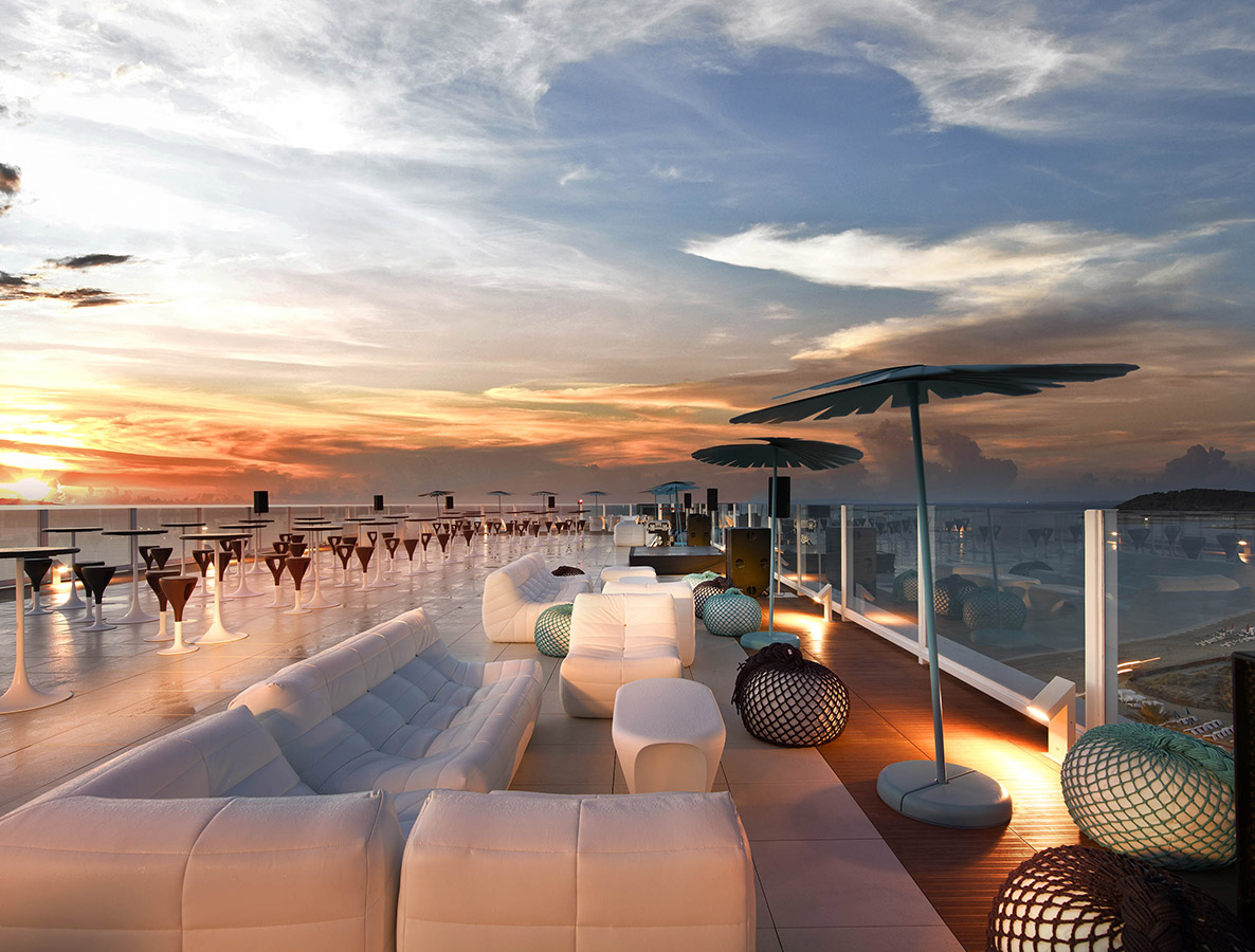 Hard Rock Hotel Ibiza Stunning Rooftop Bar