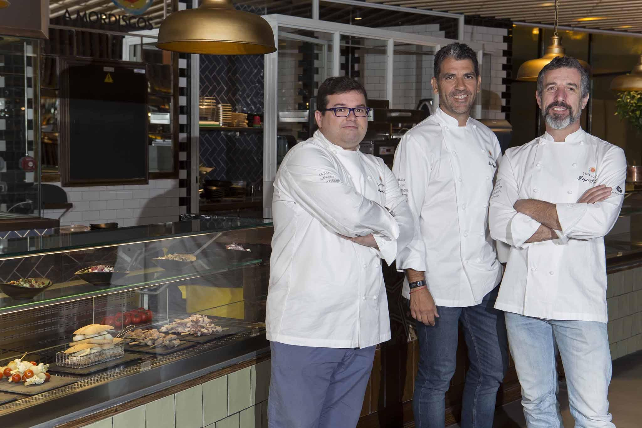 Michelin Star Cooks at Sinergias Platea Madrid: Paco Roncero, Marcos Morán and Pepe Solla