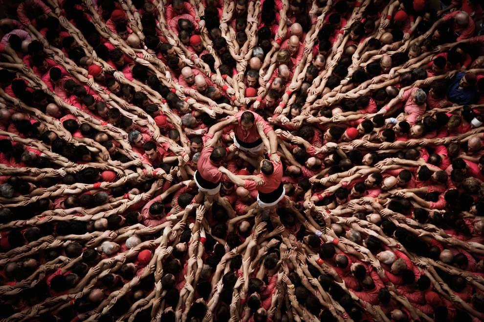 Human Tower Festival; Concurs de Castells, Tarragona, Spain. Photo credits: David Oliete.