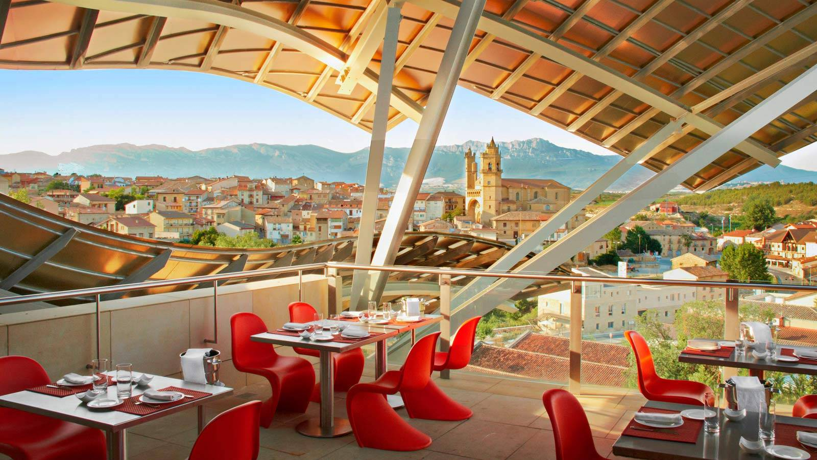 Views over the vineyards from Hotel Marques de Riscal